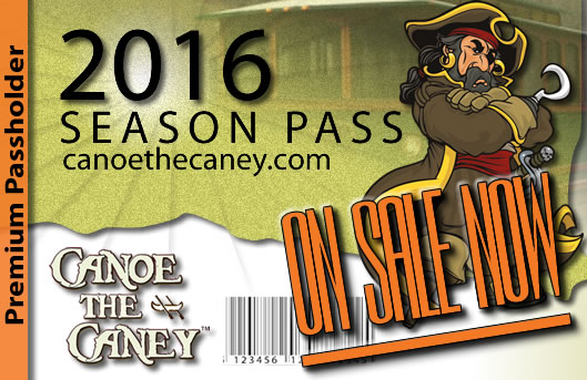 2016 Season Pass for Canoes and Kayaks