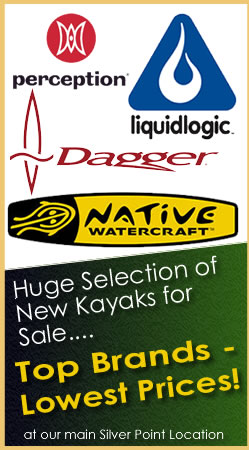 Huge selection of new kayaks for sale