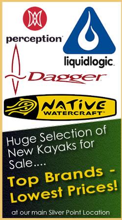 Huge selection of new kayaks for sale